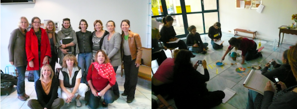 Deux illustrations de cette formation Montessori qui s'est tenue à Avignon...