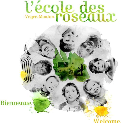 La page d'acceuil du site de l'Ecole des Roseaux