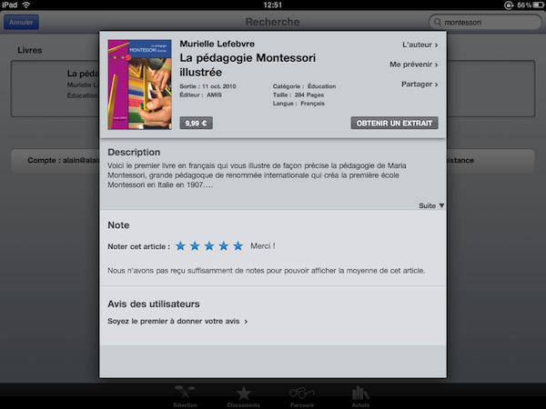 Notre ouvrage sur la librairie iBooks d'Apple...