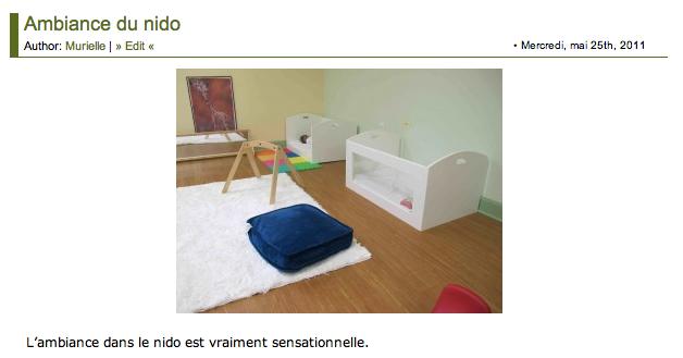 """Le """"nido Montessori"""""""
