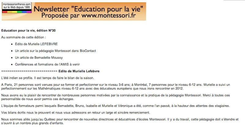 education pour la vie