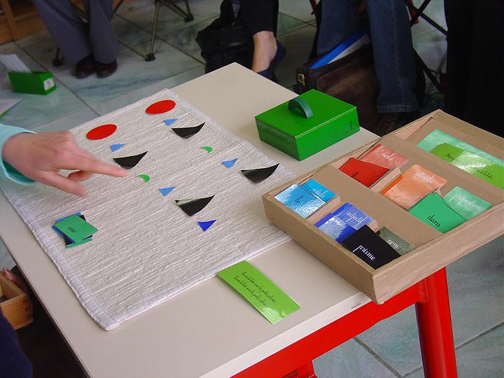 boite de grammaire sensorielle Montessori