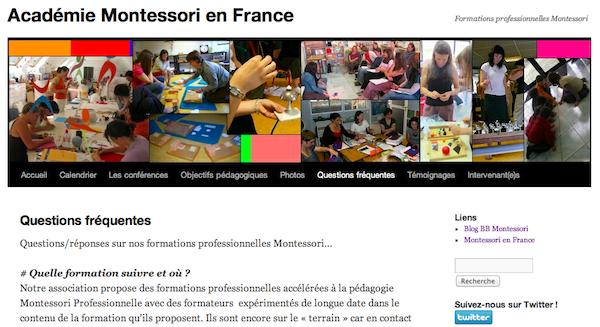 Questions fréquentes sur nos formations professionnelles Montessori