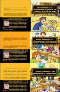 Les cahiers Montessori