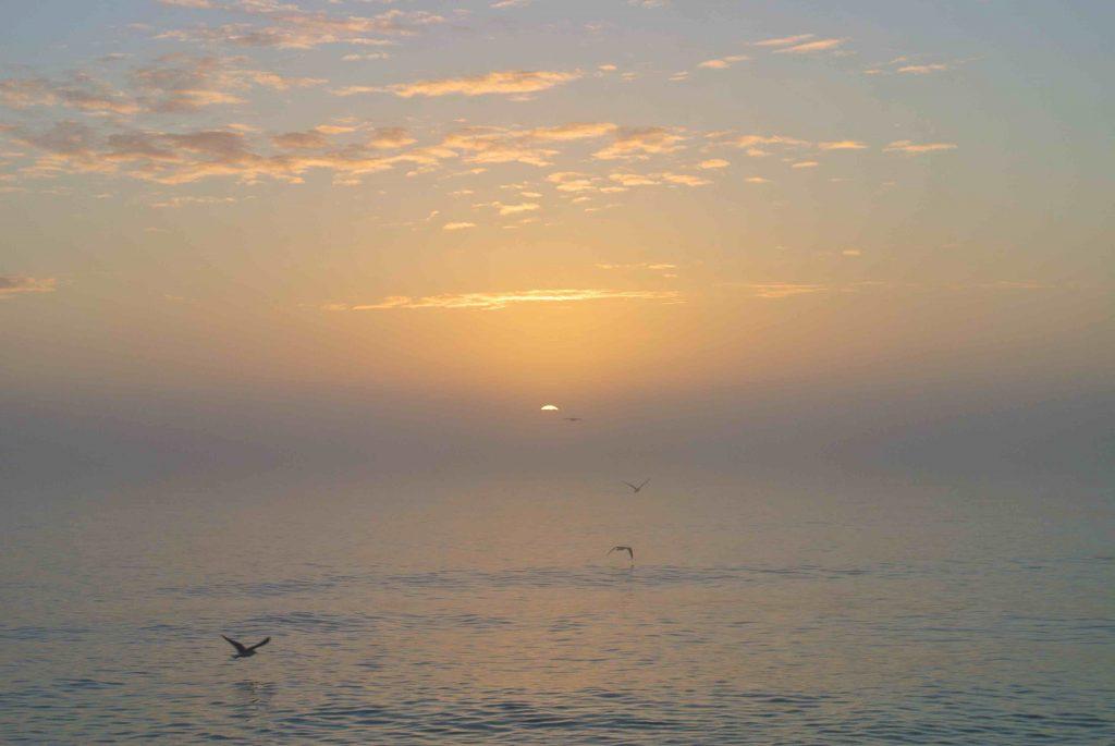 coucher soleil unique